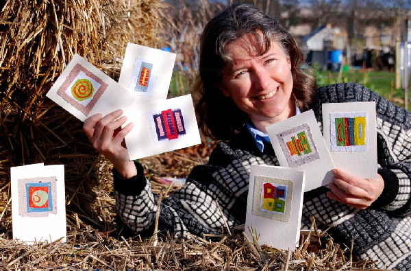 Teresinha Roberts with WildPaper cards