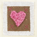 Alpaca heart brown valentines card