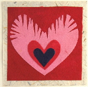 Peacock Hearts valentines card